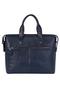 Фото 3 Кожаный женский портфель №50, Ночной город, синий в интернет-магазине Unique U