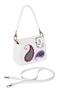 Фото 1 Кожаная женская сумка белая Пейсли №29,в Интернет-магазине UNIQUE U дизайнера Елены Юдкевич