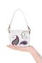 Фото 2 Кожаная женская сумка белая Пейсли №29,в Интернет-магазине UNIQUE U дизайнера Елены Юдкевич