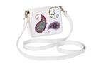 Фото 3 Кожаная женская сумка белая Пейсли №29,в Интернет-магазине UNIQUE U дизайнера Елены Юдкевич