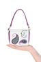 """Фото 2 Кожаная женская сумка №29, """"Пейсли"""" сиреневая в Интернет-магазине UNIQUE U"""