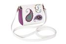 """Фото 3 Кожаная женская сумка №29, """"Пейсли"""" сиреневая в Интернет-магазине UNIQUE U"""