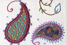 """Фото 4 Кожаная женская сумка №29, """"Пейсли"""" синяя в Интернет-магазине UNIQUE U"""