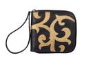 Фото 1 Кожаный кошелёк-портмоне женский, Барокко чёрный в Интернет-магазине UNIQUE U