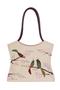 Фото 1 Сумка женская кожаная №2 Японские птички беж в Интернет-магазине UNIQUE U