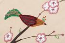 Фото 3 Сумка женская кожаная №2 Японские птички беж в Интернет-магазине UNIQUE U
