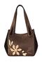 Кожаная женская сумка №33 Игра теней коричневая  в интернет-магазине Unique U дизайнера Елены Юдкевич Фото 2