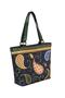 Фото 2 Кожаная женская сумка №46 Пейсли, синяя в интернет-магазине Unique U дизайнера Елены Юдкевич