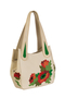 Фото 1 Кожаная женская сумка №33, Маки бежевая в интернет-магазине Unique U