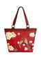 Фото 1 Кожаная женская сумка №46, ЯПОНСКИЕ ПТИЧКИ, красная в интернет-магазине Unique U