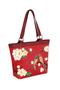 Фото 2 Кожаная женская сумка №46, ЯПОНСКИЕ ПТИЧКИ, красная в интернет-магазине Unique U