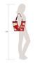 Фото 7 Кожаная женская сумка №46, ЯПОНСКИЕ ПТИЧКИ, красная в интернет-магазине Unique U