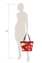 Фото 8 Кожаная женская сумка №46, ЯПОНСКИЕ ПТИЧКИ, красная в интернет-магазине Unique U