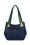 Фото 7 Кожаная женская сумка №33, Пейсли синяя в Интернет-магазине UNIQUE U