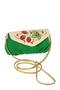 Фото 1 Кожаная сумка №34, Хохлома, зелёная в интернет-магазине Unique U