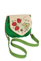 Фото 1 Кожаная сумка №31, Хохлома, зелёная в интернет-магазине Unique U