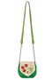 Фото 2 Кожаная сумка №31, Хохлома, зелёная в интернет-магазине Unique U