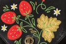 Фото 3 Кожаная женская сумка №31, Хохлома, чёрная в интернет-магазине Unique U