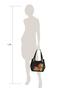 Фото 7 Кожаная женская сумка №33, Маки чёрная в интернет-магазине Unique U