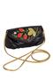 Фото 1 Кожаная женская сумка №34, Хохлома, чёрная в интернет-магазине Unique U