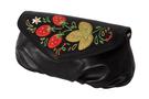 Фото 3 Кожаная женская сумка №34, Хохлома, чёрная в интернет-магазине Unique U