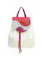 Фото 1 Кожаный женский рюкзак № 47, Абстракция, белый, в интернет-магазине Unique U дизайнера Елены Юдкевич