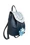 Фото 2 Кожаный женский рюкзак №47, Зима, синий в интернет-магазине Unique U