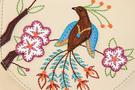 Фото 3 Кожаная женская сумка №31, Японская птичка, беж в интернет-магазине Unique U