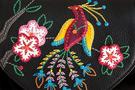 Фото 3 Кожаная женская сумка №31, Японская птичка, чёрная в интернет-магазине Unique U