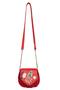 Фото 2 Кожаная женская сумка №31, Японская птичка, красная в интернет-магазине Unique U