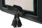 Кожаная женская сумка №48 Оксфорд чёрная  в интернет-магазине Unique U дизайнера Елены Юдкевич Фото 4