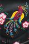 Кожаный рюкзак №47, Японские птички, чёрный в интернет-магазине Unique U дизайнера Елены Юдкевич Фото 3