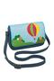 Кожаная женская сумка №48 Путешествие на воздушном шаре, синяя в интернет-магазине Unique U дизайнера Елены Юдкевич Фото 1