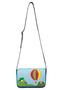 Кожаная женская сумка №48 Путешествие на воздушном шаре, синяя в интернет-магазине Unique U дизайнера Елены Юдкевич Фото 2