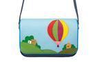 Кожаная женская сумка №48 Путешествие на воздушном шаре, синяя в интернет-магазине Unique U дизайнера Елены Юдкевич Фото 3