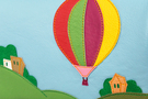 Кожаная женская сумка №48 Путешествие на воздушном шаре, синяя в интернет-магазине Unique U дизайнера Елены Юдкевич Фото 4