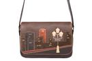 Кожаная женская сумка №48 Ночной город коричневый  в интернет-магазине Unique U дизайнера Елены Юдкевич Фото 3