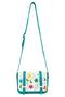 Кожаная женская сумка №48 Вальс цветов бирюза  в интернет-магазине Unique U дизайнера Елены Юдкевич Фото 2
