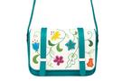 Кожаная женская сумка №48 Вальс цветов бирюза  в интернет-магазине Unique U дизайнера Елены Юдкевич Фото 3