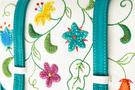 Кожаная женская сумка №48 Вальс цветов бирюза  в интернет-магазине Unique U дизайнера Елены Юдкевич Фото 4