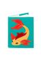 КОЖАНАЯ женская ОБЛОЖКА НА ПАСПОРТ №1, Золотая рыбка  в интернет-магазине Unique U дизайнера Елены Юдкевич Фото 1