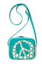 кожаная женская сумка бирюзовая м.№36, flower dream