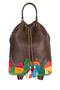 КОЖАНЫЙ ЖЕНСКИЙ РЮКЗАК-сумка коричневый м.49