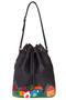кожаная женская сумка темно-серая м.52